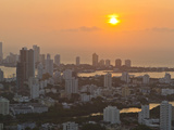 Sunset over the City of Cartagena, Colombia Fotografisk tryk af Mike Theiss