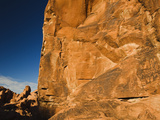 Ancient Native American Petroglyphs on Sandstone Cliffs Photographic Print by James Forte