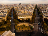 View of Paris from the Top of the Arch of Triumph Photographic Print by Jorge Fajl