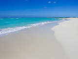 Perfect Paradise White Sand Beaches and the Blue Caribbean Sea Fotografisk tryk af Mike Theiss