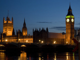 Thames River, Westminster Bridge, Big Ben and Houses of Parliament Photographic Print by Tino Soriano