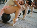 Classical Ballerinas from the Cuba National Ballet at the Malecon Photographic Print by Kike Calvo