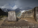 Intihuatana, or Hitching Post of the Sun at Machu Picchu Photographic Print by Michael Melford