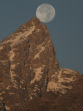 The Full Moon Above Grand Teton Mountain Photographic Print by Greg Winston