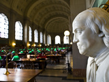 A Marble Bust of Benjamin Franklin at the Boston Public Library Photographic Print by Richard Nowitz