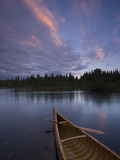 A Canoe on Maine&#39;s Allagash River Photographic Print by Michael Melford
