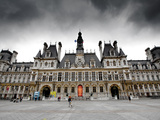The Hotel De Ville in Paris Photographic Print by Jorge Fajl