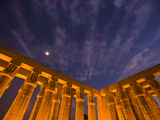 The East Side of the Peristyle Court of Amenhotep Iii at Luxor Temple Photographic Print by Michael Melford