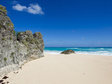 A Rock Cliff at a Small Beach on the South Side of Bermuda Photographic Print by Mike Theiss
