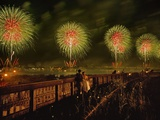 Fourth of July Fireworks over the Hudson River and the High Line Photographic Print by Diane & Len Cook & Jenshel