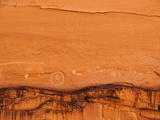 Ancient Navajo Petroglyphs on the Cliffs at Canyon De Chelly Photographic Print by James Forte