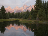 The Teton Mountains Reflected in the Snake River Photographic Print by Greg Winston
