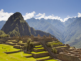 The Pre-Columbian Inca Ruins at Machu Picchu Photographie par Mike Theiss