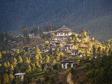 Gangtey Monastery in Phobjika Valley Photographic Print by Alison Wright
