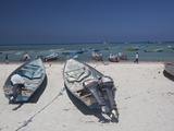 Fishing Boats on the West Coast of Socotra Island Photographic Print by Michael Melford