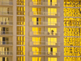 Sunlight Reflects Bright Gold on High Rise Casino Windows Photographic Print by Mike Theiss
