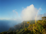 A Rainbow Arcs over the Lush Kalalau Valley Photographic Print by Diane & Len Cook & Jenshel