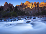 The Crooked River Runs Through Smith Rock State Park Photographic Print by Michael Melford
