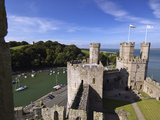 Caernarfon Castle, Overlooking a Harbor Photographic Print by Jim Richardson