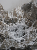The Icy Approach to the Upper Saddle and Grand Teton Photographic Print by Greg Winston