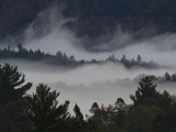 Morning Fog Blankets Adirondack Park Photographic Print by Michael Melford