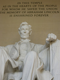 A Statue of President Abraham Lincoln at the Lincoln Memorial Photographic Print by Paul Sutherland