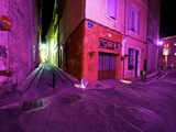 View Down an Alley in Arles at Night Photographic Print by Jim Richardson