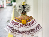 A Young Panamanian Woman Wearing the Traditional Pollera Photographic Print by Kike Calvo