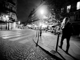 A Woman Walking at Night Photographic Print by Jorge Fajl