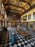 An Actress Glides across the Marble Floor of Hatfield House Photographic Print by Jim Richardson