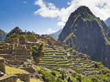 Pre-Columban Inca Ruins at Machu Picchu Photographic Print by Mike Theiss