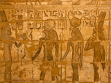 A Detail of a Wall Relief at Medinet Habu Photographic Print by Michael Melford