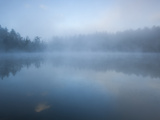 Fog Blankets Eagle Lake at Dawn Photographic Print by Michael Melford