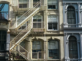 Fire Escapes on Buildings in Soho Photographic Print by Kike Calvo