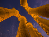 Columns from Directly Below at Luxor Temple Photographic Print by Michael Melford