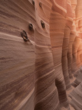 Close Up of a Slot Canyon Wall in Zebra Canyon in Escalante, Utah Photographic Print by Greg Winston