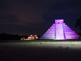 'The Castle' in Purple Light with the 'Temple of the Jaguars' Behind It Photographic Print by Mauricio Handler