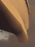 Aerial View of a Sand Dune in the Namib Desert Near Sossusvlei Photographic Print by Pete McBride