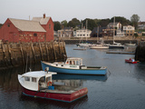 Lobster Fishing Boats and Row Boats in Rockport Harbor Photographic Print by Richard Nowitz