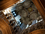 Detail of Architecture Inside Canterbury Cathedral Photographic Print by Heather Perry