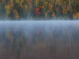 Autumn Trees Reflected in Mist-Covered Connery Pond Photographic Print by Michael Melford
