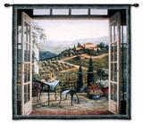 大邸宅のバルコニーからの風景 タペストリー : バーバラ R. フェリスキー