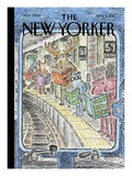 In Transit - The New Yorker Cover, April 4, 2011 Regular Giclee Print by Edward Koren