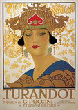 Turandot (G. Puccini) - Vintage Style Italian Opera Poster Photo