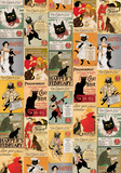 Gatti Vintage - Vintage Style Cat Poster Collage Prints