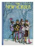 The New Yorker Cover - December 16, 1967 Regular Giclee Print par Charles Saxon