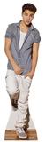 Justin Bieber en chemise à carreaux Silhouettes découpées grandeur nature