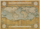 Mappa Del Mondo - Antique Style World Map Poster Affiche