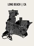 Long Beach Affiches par  Mr City Printing