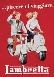 Lambretta - Vintage Style Italian Poster Plakát